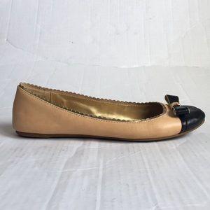 COACH!! Flats Peach/ Black  size 8